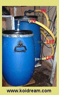 Eigen gebouwde vijver koi filter for Vijverfilter zelf maken